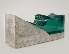 esculturas de vidro