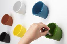 【ideaco】イデアコ ウォールポケット cuppo【インテリア/カラフル/デザイン/カラフル/収納/ギフト/マグネット】【デザイン/おしゃれ/海外/輸入】【デザイン文具ならイーオフィス】【楽天市場】