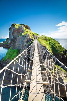 Considered one of the world's scariest bridges, the Carrick-a-Rede Rope Bridge is not for the faint of heart. Spanning a chasm that is almost 100 feet deep and nearly 70 feet wide, this Northern Ireland bridge attracts a quarter of a million visitors every year.