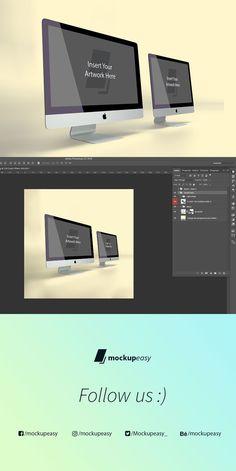Double iMac Mockup. Product Mockups. $2.00
