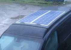 Solardach, 2x 120W Panel - Solar roof, 2x 120W panels