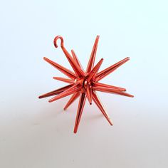 Vintage Christmas Ornament Sputnik Red Star Mid Century Eames Era by efinegifts on Etsy