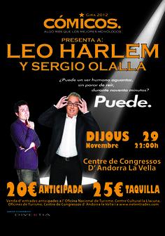 Cartel de Leo Harlem y Sergio Olalla de la gira 2012