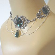 Image detail for -Steampunk or Irish wedding costume jewelry choker necklace for gown or ...