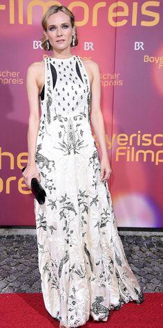 Diane Kruger in Valentino attends the Bavarian Film Awards. #bestdressed