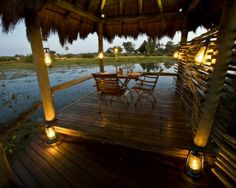 Much of Little Mombo Camp overlooks the surrounding floodplains which offer some of the best big game viewing in the Okavango Delta  http://www.africanwelcome.com/botswana/botswana-private-game-lodges/little-mombo-botswana