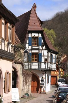 House in Kaysersberg, Alsace, France.  We stayed in Kaysersberg during our europe tour in 2014.  It is an enchanting village!!!