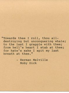famous moby dick quotes