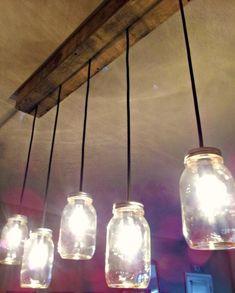 fabriquer une suspension à partir de bocaux en verre et un cache-piton DIY en bois