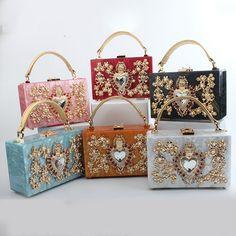 6e08b8cb3be2 Women s Handbag Evening Clutch Bag Acrylic Chain Travel Shoulder Crossbody Messenger  Bags Totes School Wallet Box bolsa feminina    Clicking on the VISIT ...