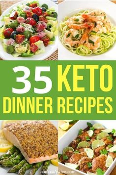 Wondering what to make for dinner tonight? Here are 35 delicious and easy keto dinner recipes for meals the whole family will love! Check out these quick low carb ideas for chicken, crockpot, shrimp…More Easy Keto Friendly Crockpot Ideas Low Carb Meal Plan, Low Carb Dinner Recipes, Diet Meal Plans, Low Carb Diet, Keto Dinner, Paleo Recipes, Meal Recipes, Meatball Recipes, Keto Foods