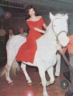 Bianca Jagger's 30th birthday at Studio 54, 1977