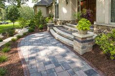 Richcliff paver Front Entrance with Copthorne accent - Photos