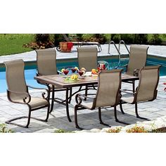 Superb Hampton Bay Andrews 7 Piece Patio Dining Set T07F2U0Q0017 At The Home Depot  | Meadowridge House | Pinterest
