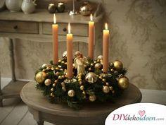 Tinker vánoční věnec - 15 řemeslných nápadů - vánoční adventní věnec si uděláte