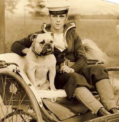 Bondi was a pedigree bulldog given by the people of Lourenco Marques to the crew of HMS Verbena, a flower class sloop, in 1928. He became the ship's mascot. Pinned by Judi Crowe.