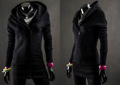BOLF 16 - CZARNY Czarny   Ona \ Bluzy damskie   Denley - Odzieżowy Sklep internetowy   Odzież   Ubrania   Płaszcze   Kurtki