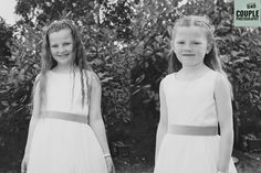 The flower girls. Weddings at The Johnstown Estate, photographed by Couple Photography.