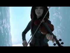 Lindsay Stirling- chica who dances around gracefully while rocking out on violins meshed with techno-dubstep sort of beats