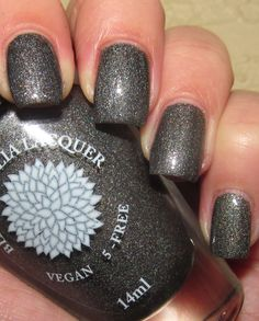 Queen Of The Night, 2 coats, 1 coat of Seche top coat, with flash