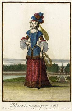 Recueil des modes de la cour de France, 'Habit de Fantaisie pour un Bal' Jean Berain (France, 1637/1640-1711) Jacques Lepautre (France, Pari...