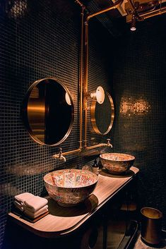 Black Accents, Blue Aesthetic, Vintage Colors, Beauty Care, Small Bathroom, Restaurant, Mirror, Calligraphy Diy, Boards