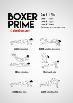 Fitness Training Tips: Boxer Prime: Fitness Program Boxing Training Workout, Home Boxing Workout, Boxer Training, Mma Workout, Best Ab Workout, Workout Challenge, Boxing Workout With Bag, Strength Workout, Training Tips