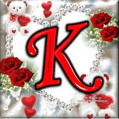 Flower Phone Wallpaper, Heart Wallpaper, Love Wallpaper, K Letter Images, Photo Name Art, Letter K Design, Good Morning Flowers Gif, S Love Images, Islamic Decor