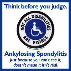 """Ankylosing Spondylitis commonly affects people between the ages of 17 and 45, therefore next time you see a """"healthy"""" looking individual…"""