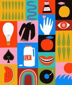 Mondrian, Graphic Design Typography, Graphic Design Inspiration, Pictogram, Book Design, Digital Illustration, Art Inspo, Cool Art, Character Design