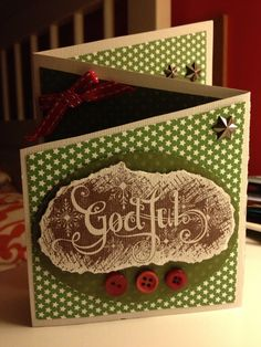 Scrapbooking card god jul