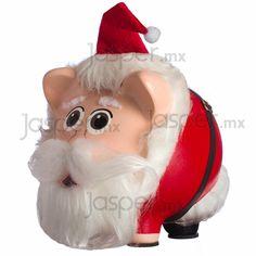 Alcancía cerdito de cerámica - Santa Claus $340