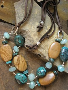 Turquoise and gemstone necklace