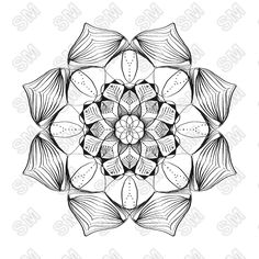Luna Conor- Mandala of the day. This is one of the first coloring mandalas I made.
