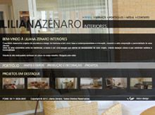 Layout de Site Criado para a Arquiteta Liliana Zenaro #criative #site #criacaodesites #arquitetura #agencia #comunicacaovisual www.visiondesign.com.br