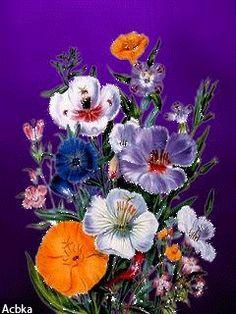 Красивые цветы - анимация на телефон №1344885