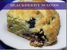 Blackberry Scones: Takes less than 10 mins to make the dough!
