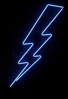 blue neon lightning by john fullard, via Flickr