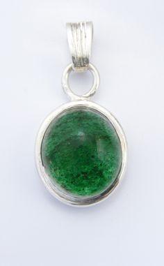 Sterling and aventurine pendant