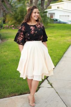 Have you shopped our Veronica skirts, they are the perfect midi skirt! Nicole top available too!