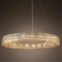 Hotel hall led ring light Round crystal chandelier for Living Room Led suspension Luminaire Dining Room Round chandelier sconce Led Pendant Lights, Glass Pendant Light, Glass Pendants, Pendant Lighting, Round Crystal Chandelier, Glass Chandelier, Led Ring Light, Chandelier In Living Room, Sconces