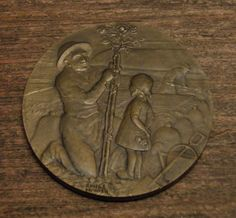 1932 Antique bronze art deco medal signed by Frenchconnection333
