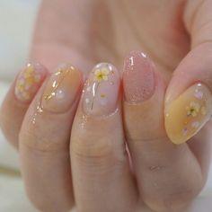 Cute Acrylic Nails, Cute Nails, Pretty Nails, Gel Nails, Soft Nails, Simple Nails, Asian Nails, Korean Nail Art, Asian Nail Art