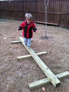 Fumbling Through Parenthood: DIY- Balance Beam