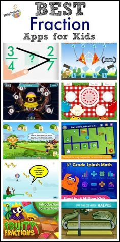 fraction apps for kids apps to make learning and practicing math fun!best fraction apps for kids apps to make learning and practicing math fun! Math For Kids, Fun Math, Math Games, Math Activities, Math Websites For Kids, Math Art, Teaching Fractions, Math Fractions, Teaching Math