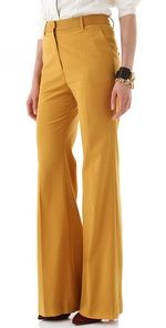 Wide leg high waist pants and in yellow!