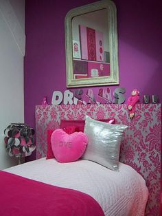 Pink Accent Wall pink accent wall, light pink other walls | house ideas | pinterest