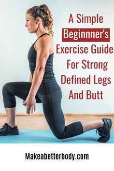 Bodyweight Strength Training Workout Routine For Beginners: Strong Legs And Butt - Make A Better Body Beginner Workout At Home, Easy At Home Workouts, Workout Routines For Beginners, Metabolic Workouts, Bodyweight Strength Training, Strong Legs, Workout Guide, Nice Body, Body Weight