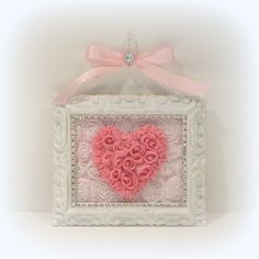 shabby chic decorating | Shabby Chic Wall Decor, Shabby Chic Pink Heart Wall Decor, Cottage ...