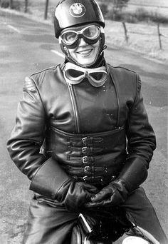 Anke Eve Golman was a journalist for Cycle World, Das Motorrad in Germany, & Moto Revue in France. She was a friend of author André Pieyre de Mandiargues and the inspiration for the main character, 'Rebecca', in his book The Motorcycle (1963). The book was adapted for the 1968 film The Girl on a Motorcycle starring Marianne Faithful. She was the first woman to ride a motorcycle with a one-piece leather racing suit. In 1958, she helped found the Women's International Motorcycle Assoc. in…